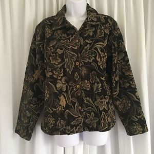 Coldwater Creek Tapestry Jacket Blazer Small